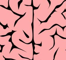 Brain melt - vector illustration of melting brain! Sticker