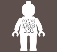 "White Minifig with ""OMG LOL"" Slogan by Customize My Minifig by ChilleeW"