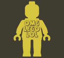"Yellow Minifig with ""OMG LOL"" Slogan by Customize My Minifig by ChilleeW"