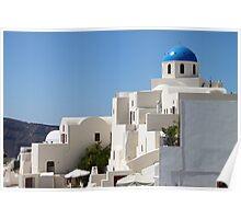 Church & Houses, Oia, Santorini Poster