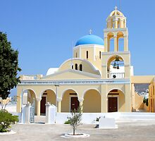 Church, Oia, Santorini, Greece Islands by Carole-Anne