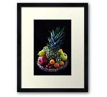 Still life of tropical fruits  Framed Print