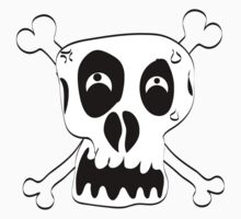 Cartoon Skull and Cross Bones by Chillee Wilson by ChilleeWilson