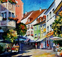 SUNNY MEERSBURG  GERMANY - OIL PAINTING BY LEONID AFREMOV by Leonid  Afremov