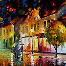 ALONE IN THE CITY - OIL PAINTING BY LEONID AFREMOV by Leonid  Afremov