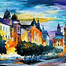 EVENING IN RUSSIA - OIL PAINTING BY LEONID AFREMOV by Leonid  Afremov