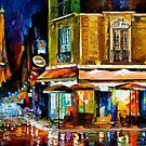 PARIS - RECRUITEMENT CAFE - OIL PAINTING BY LEONID AFREMOV by Leonid  Afremov