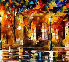 FLAMES OF HAPPINESS - OIL PAINTING BY LEONID AFREMOV by Leonid  Afremov