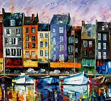 HONFLEUR - NORMANDIE - OIL PAINTING BY LEONID AFREMOV by Leonid  Afremov