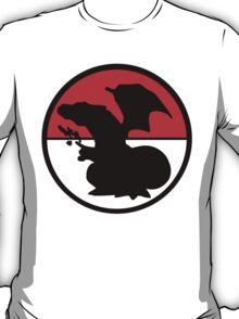 Charizard Silhouette, Pokeball  T-Shirt