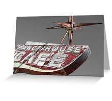 Once Upon a Ranch House Cafe Greeting Card