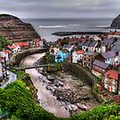 """Raining over Staithes, North Yorkshire"" by Bradley Shawn  Rabon"