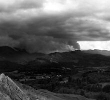 Wetherlam Storm From Loughrigg Summit by rennaisance