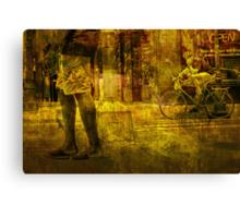 Bicyclist and Pedestrians No.9 Canvas Print