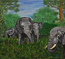 Elephant's by Tricia Winwood