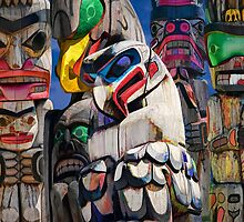 Totem Poles in the Pacific Northwest by Randall Nyhof