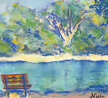 Along the Water (pastel) by Niki Hilsabeck