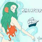 Aquarius ~ The Ocean Maiden by JasJustHuman