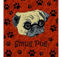 Adorable Smug Pug iPhone & iPod Cases by Patricia Barmatz