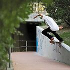 Mitch Cunningham, switch crooked grind. by Luke Carl Thompson