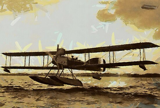WWI Short type 184 Floatplane 1915 by Dennis Melling