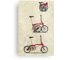 I Love My Folding Brompton Bike Metal Print