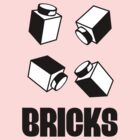 """BRICKS"" by Customize My Minifig by ChilleeW"