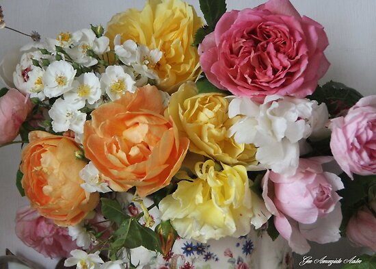 ROSESE 16THJUNE AND PEONY by Gea Austen