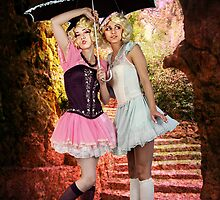 LITTLE LAMBS ~ SHELTER IN SPRING RAIN by Tammera
