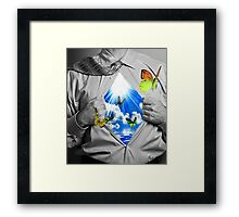 blueskys and butterflys Framed Print