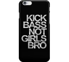 Kick Bass Not Girls Bro (yellow) iPhone Case/Skin