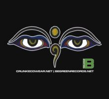 Crunk Eco Wear | Be Green Records Merch | Buddha Eyes 11 by David Avatara
