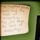 The happiest of people... by MissDaviLo