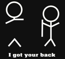 i got your back on dark tee by nadil
