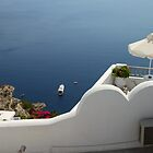 Balcony Oia, Santorini, Greek Islands by Carole-Anne