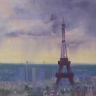 """Approaching storm, Paris"" (updated) by Tash  Luedi Art"