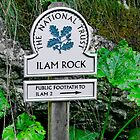 Ilam Rock Sign, Dovedale  by Rod Johnson