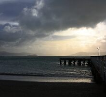 Stormy day on Wellington harbour by Duncan Cunningham