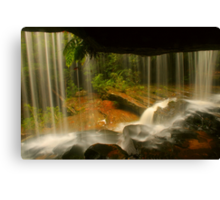 Lower Somersby Falls .. behind the veil Canvas Print
