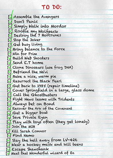 My busy Movie 'to do' list by MrSaxon