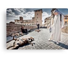 Nun and Dog Rome Italy Metal Print