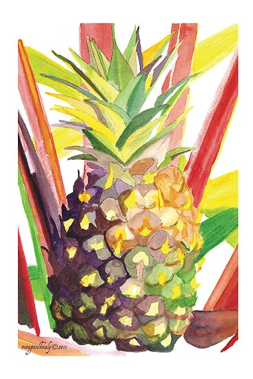 """Tropical Popsicle Pineapple"" © 2011 Meagan Healy by Meagan Healy"