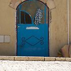 Blue Door, Jerusalem by Rebecca Staffin