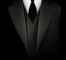 Men's Tuxedo Suit  Prints / iPad Case / iPhone 5 Case / iPhone 4 Case  / Samsung Galaxy Cases  by CroDesign