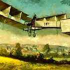 Flight of the Quatorze-bis 23rd October 1906 by Dennis Melling