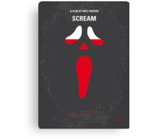 No121 My SCREAM minimal movie poster Canvas Print