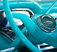 1957 Chevrolet Cameo Pickup Truck Steering Wheel by Jill Reger