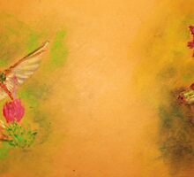 Hummingbird and Tree Frog (Mail Art for Walt) by Jennifer Ingram