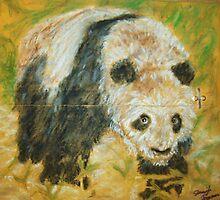 Panda Mail Art by Jennifer Ingram