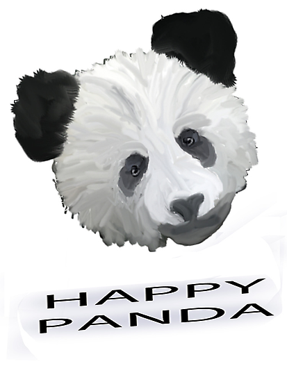 Happy Panda Tee, Iphone Case, Card by Corri Gryting Gutzman